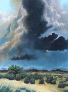Orage sur le Larzac -Pastel sur Bois - 73X54