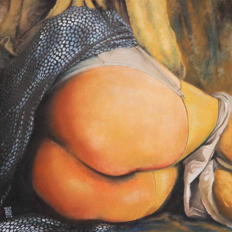 Jeanne - Pastel sur toile -  60X60