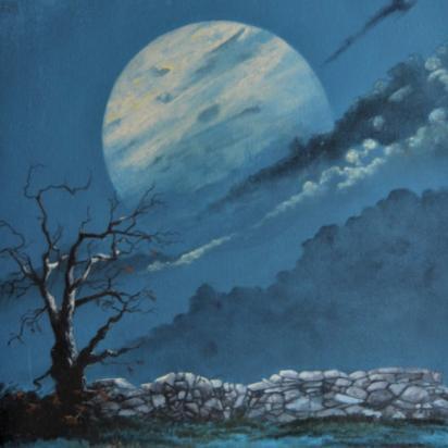 Clair de Lune - Pastel  gouache - 80X60