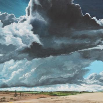 Orage sur la Cavalerie - 2019 - Acrylique sur Toile - 73X54